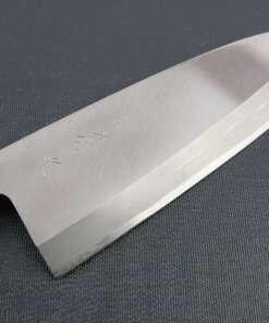 Japanese professional chef knife, Deba fillet knife, steel 180mm, details of blade front side