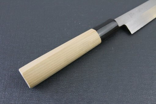 Japanese professional chef knife, Yanagiba Sushi knife, 1st grade 210mm, handle details