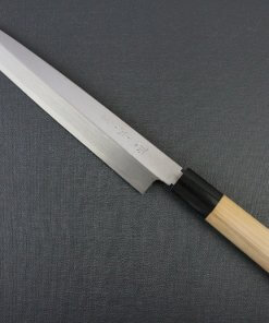 Japanese professional chef knife, left-handed Yanagiba Sushi knife, 1st grade 240mm, entire view front side