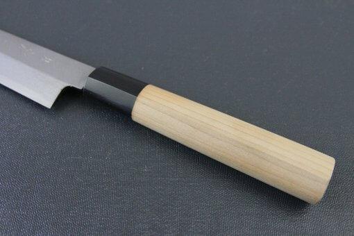 Japanese professional chef knife, left-handed Yanagiba Sushi knife, 1st grade 240mm, handle details