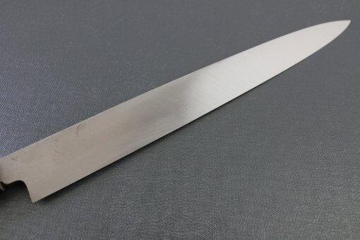 Japanese professional chef knife, left-handed Yanagiba Sushi knife, 1st grade 300mm, details of blade backside