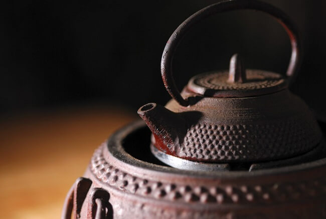 Nambu Ironware, Japanese traditional crafts, boiling water with kettle