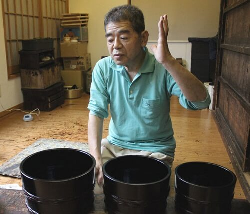 Naruko Lacquerware, Japanese traditional crafts in Tohoku, one of a few craftsman