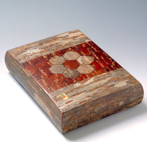 Japanese crafts, Birch woodwork, accessory case