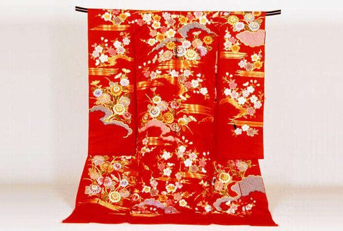 Kiryu Kimono Fabric, Traditional Japanese fabric for Kimono etc., completed gorgeous Kimono
