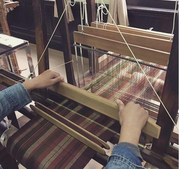 Kiryu Kimono Fabric, Traditional Japanese fabric for Kimono etc., waving process by craftsman