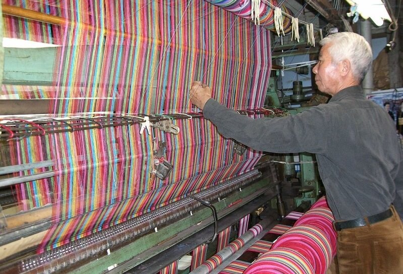 Kiryu Kimono Fabric, Traditional Japanese fabric for Kimono etc., a waving factory famous for its product