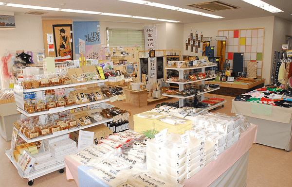 Kiryu Kimono Fabric, Traditional Japanese fabric for Kimono etc., a sightseeing spots around Kiryu, inside souvenir shop