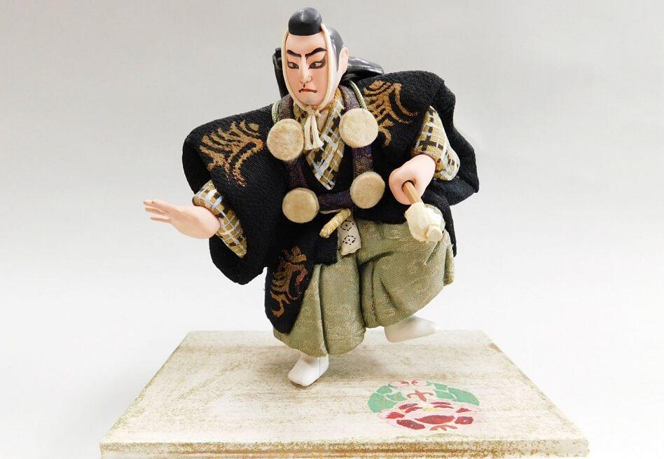 Edo-kimekomi Japanese Doll, traditional crafts, a product of Kabuki actor doll
