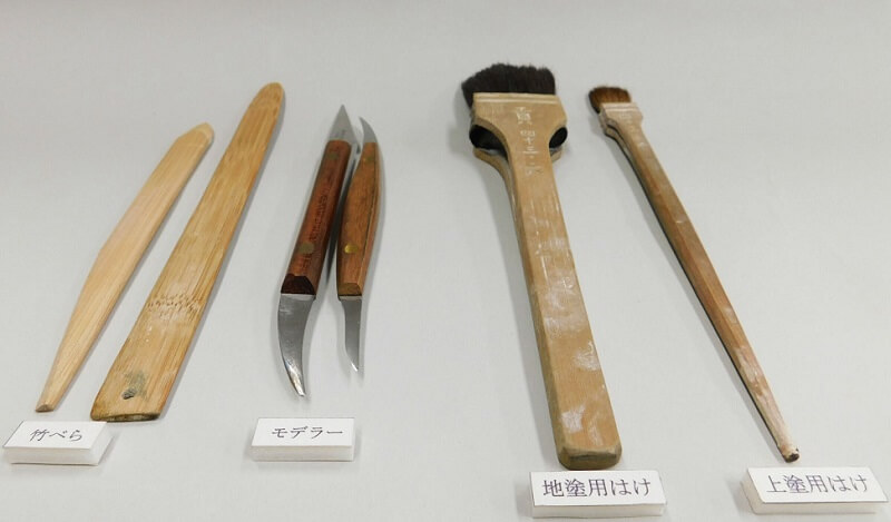 Edo-kimekomi Japanese Doll, traditional crafts, instruments used to make dolls