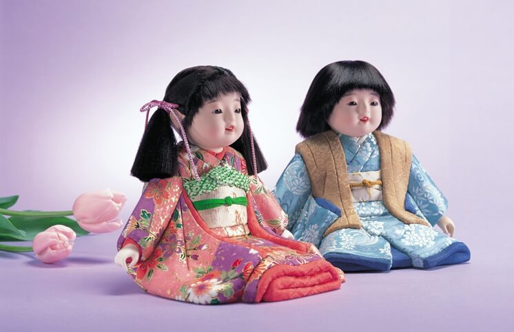 Iwatsuki Japanese dolls, a Japanese traditional crafts, a product example of pair dolls, boy and girl