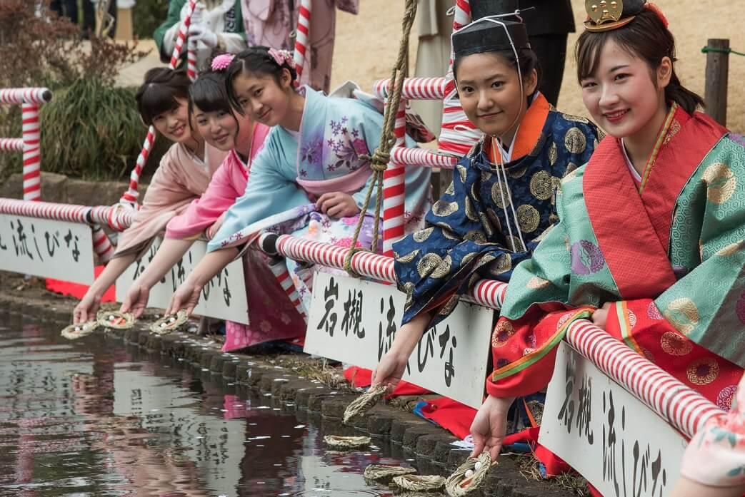 Iwatsuki Japanese dolls, a Japanese traditional crafts, Nagashi Hina festival