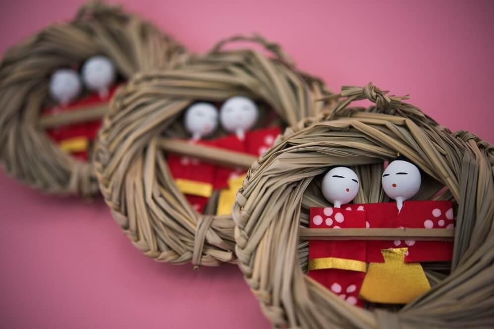 Iwatsuki Japanese dolls, a Japanese traditional crafts, details of dolls used for Nagashi Hina festival