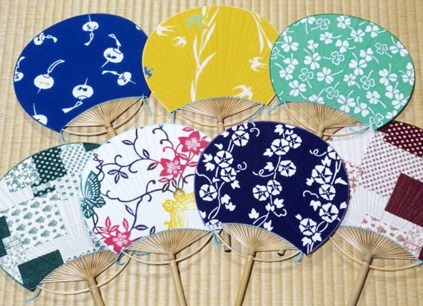 Boshu Uchiwa Fans, Japanese traditional craft, some design variations