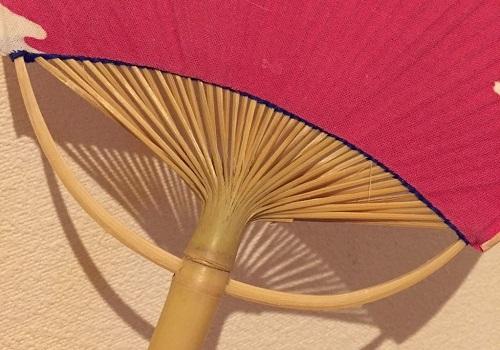 Boshu Uchiwa Fans, Japanese traditional craft, details of Uniwa frame made of bamboo