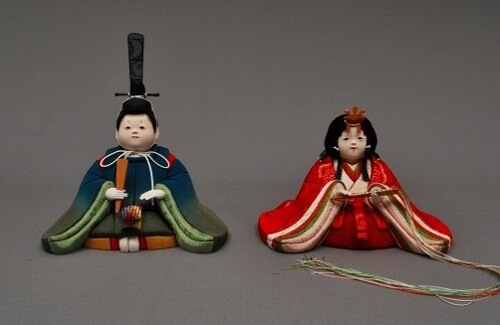 Edo Sekku Dolls, a Japanese Traditional Craft of Tokyo, Hina dolls of Prince and Princess