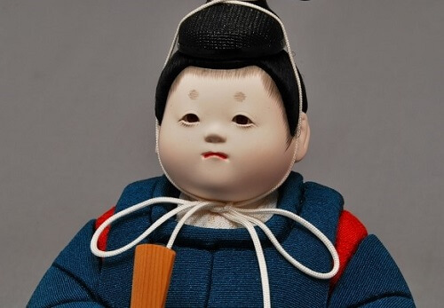 Edo Sekku Dolls, a Japanese Traditional Craft of Tokyo, Hina doll prince face