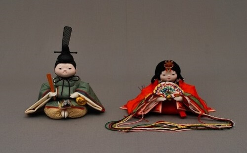 Edo Sekku Dolls, a Japanese Traditional Craft of Tokyo, Hina doll a pair of Prince and Princess