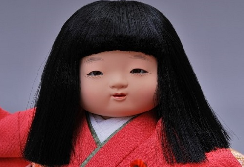 Edo Sekku Dolls, a Japanese Traditional Craft of Tokyo, details of a doll' face