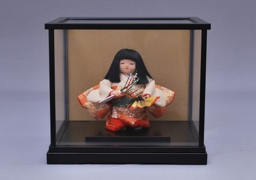 Edo Sekku Dolls, a Japanese Traditional Craft of Tokyo, a Kimono doll in a case