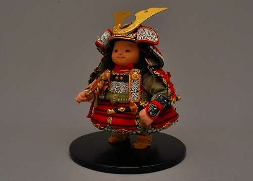 Edo Sekku Dolls, a Japanese Traditional Craft of Tokyo, Samurai armor doll diagonal front view