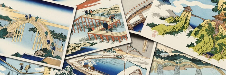 Ukiyo-e, Japanese art of Edo woodprint, famous woodprints