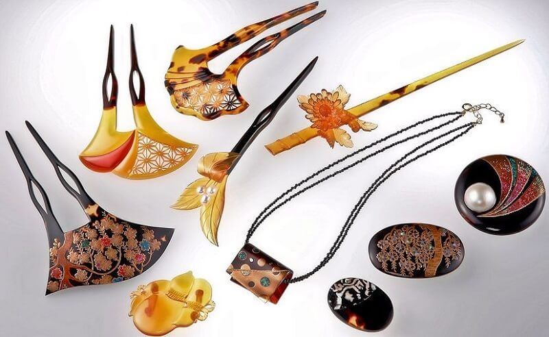 Japanese Traditional Edo Tortoise Shell Crafts, product variations mainly accessories