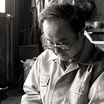 Echigo-Sanjo Cultery, a traditional Japanese crafts, a craftsman making scissors