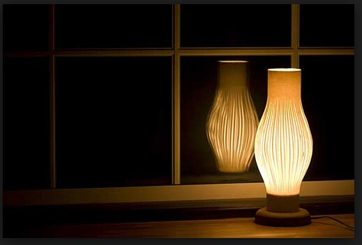 Uchiyama Washi Japanese paper, a Japanese traditional craft, lamp shade as interior object