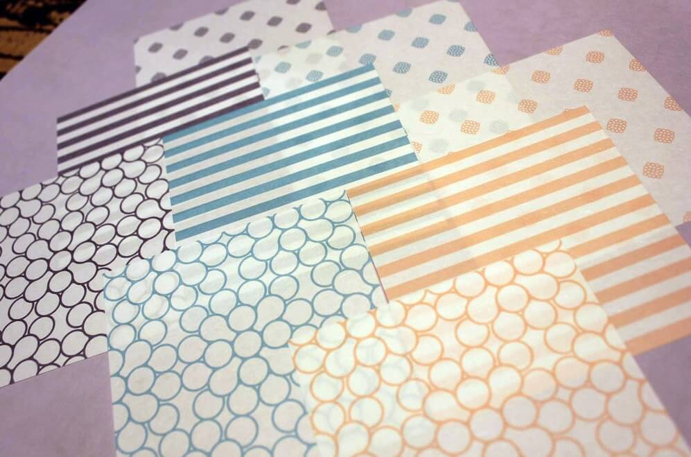Mino Washi Japanese paper, a Japanese traditional craft, thin and beautiful Washi samples