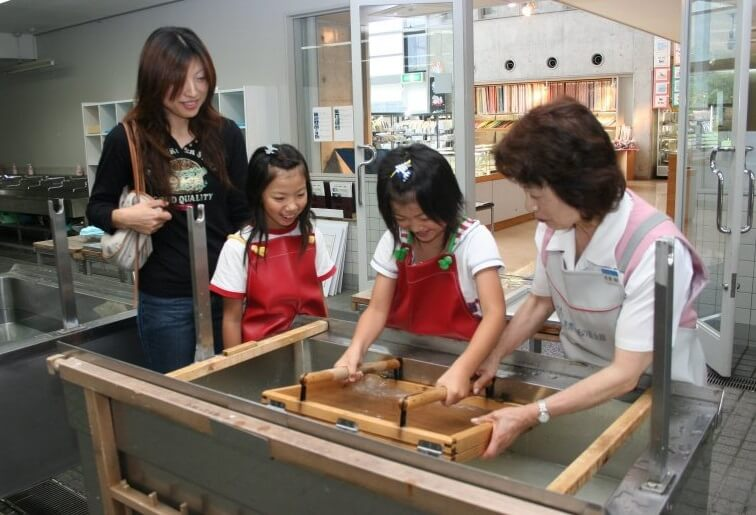 Mino Washi Japanese paper, a Japanese traditional craft, Washi making experience held by Washi Museum