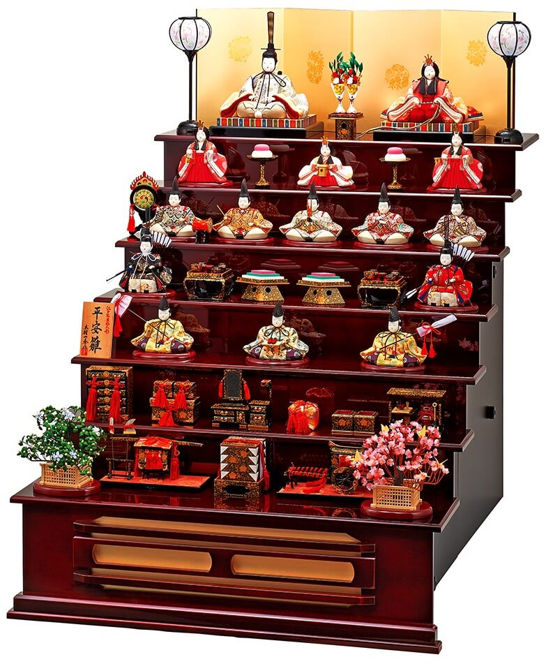 Suruga Hina Doll Accessories, a traditional Japanese craft, full set of Hina dolls