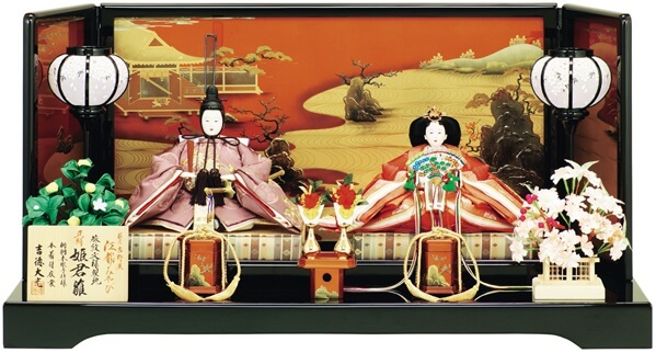 Suruga Hina Doll Accessories, a traditional Japanese craft, Hina dolls pair emperor and empress