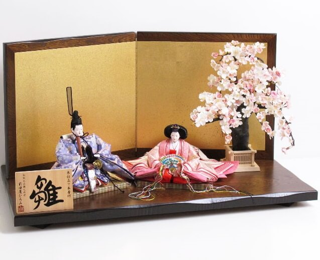 Hina dolls made in Suruga, a traditional Japanese craft, simplest pair of Hina dolls