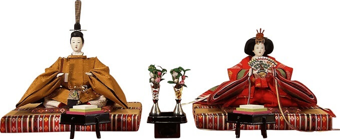 Hina dolls made in Suruga, a traditional Japanese craft, simple pair Hina dolls: emperor and empress