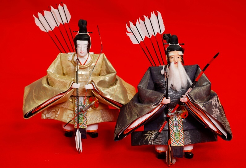 Hina dolls made in Suruga, a traditional Japanese craft, 'Zuijin (The Ministers)