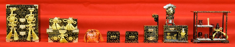 Hina dolls made in Suruga, a traditional Japanese craft, decorative objects