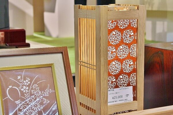 Ise Carving Paper, a Japanese traditional craft, product of lamp shade