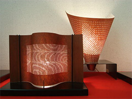 Ise Carving Paper, a Japanese traditional craft, modern lamp shade products