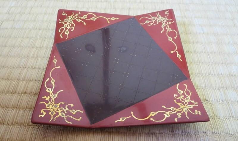 Takaoka Lacquerware, a Japanese traditional craft, beautiful square tray