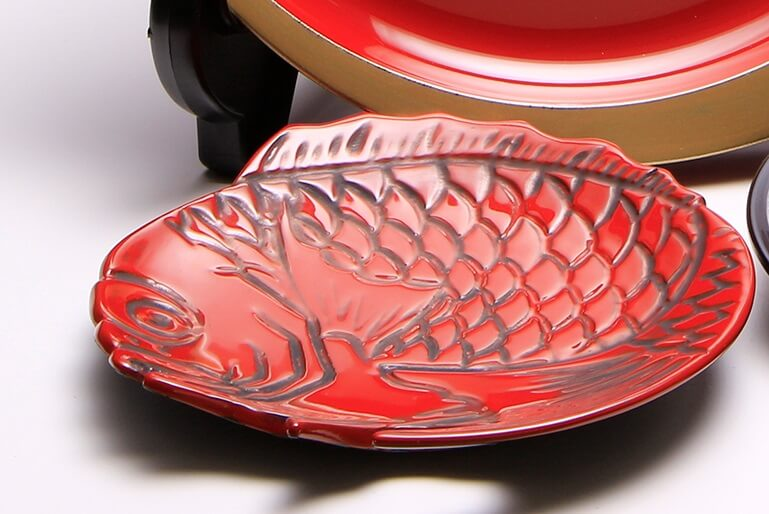 Takaoka Lacquerware, a Japanese traditional craft, finished product of lacquer painting tray