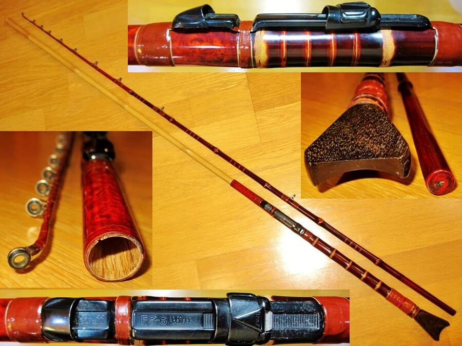 Edo bamboo fishing rod, a traditional craft of Japanese rod, details of a product example