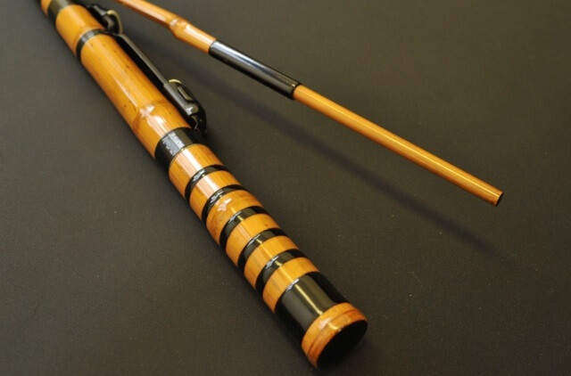 Edo bamboo fishing rod, a traditional craft of Japanese rod, a product example of expensive rod in specialty shop