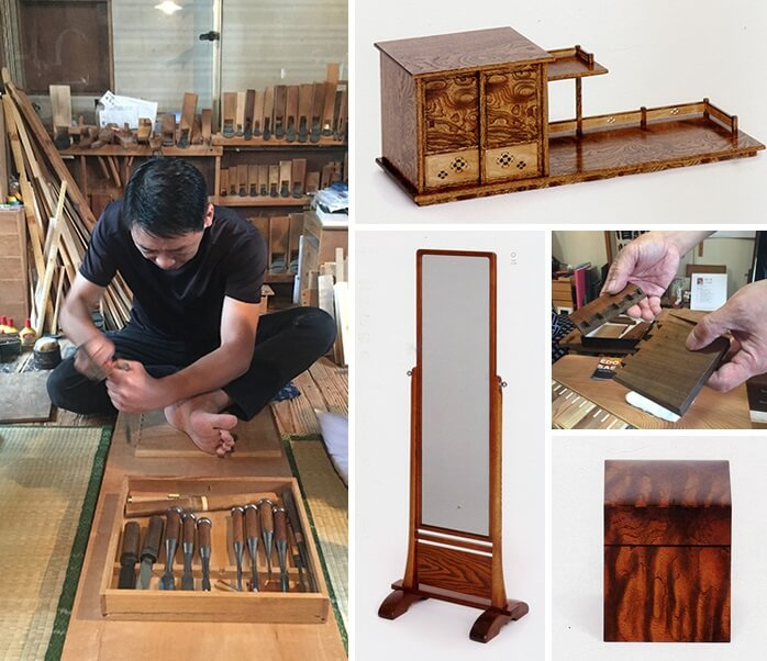 Japanese traditional craft, Edo woodworks, making process and several types of woodwork products