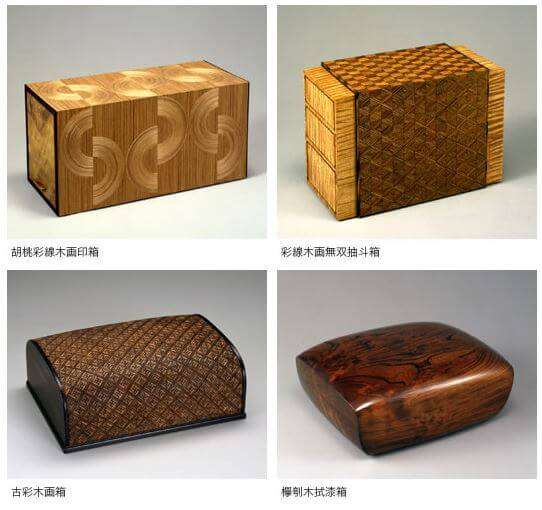 Japanese traditional craft, Edo woodworks, four types of woodwork boxes