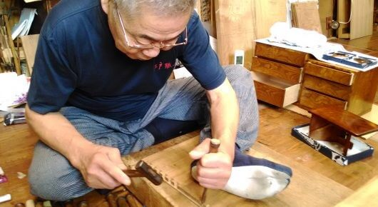 Japanese traditional craft, Edo woodworks, a craftsman in Tokyo