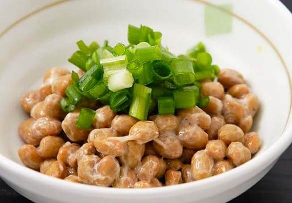 Natto, Japanese food, served in a cup