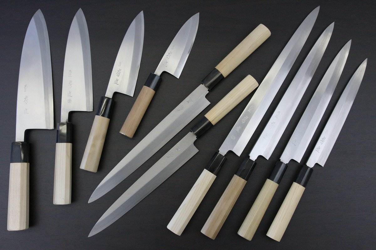 Products of Fusachika Japanese professional knives
