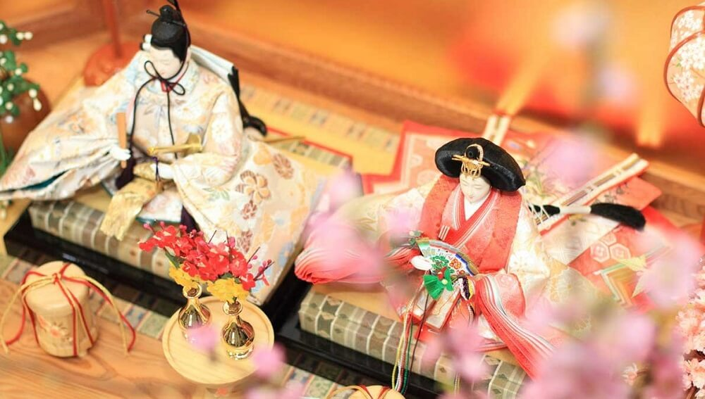 Hina dolls, a traditional Japanese dolls