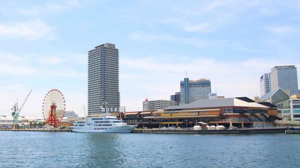 Behind Kobe's must-see tourist spots, harborland daytime view